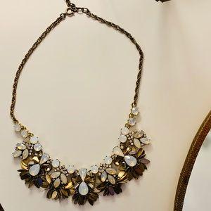 LOFT statement necklace diamonds embellishments